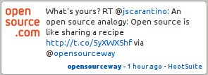 What is Open Source - Recipe